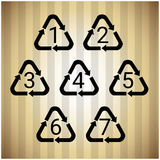Recycle Symbol Logo Set Web Icon Royalty Free Stock Image