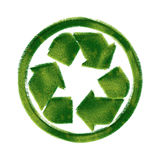 Recycle symbol made of grass. Recycling Signs made of green grass isolated on white background — one in a series of recycling symbols done in the same stock illustration