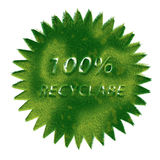 Recycle symbol made of grass Royalty Free Stock Photos