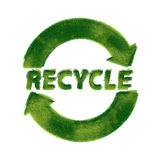 Recycle symbol made of grass. Recycling Signs made of green grass isolated on white background — one in a series of recycling symbols done in the same vector illustration