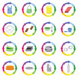 Recycle symbol for many waste elements Royalty Free Stock Photography