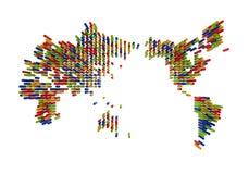 Recycle symbol map Stock Photo