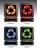 Recycle symbol nameplates Royalty Free Stock Photography