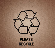 Recycle symbol on old textures Stock Photo