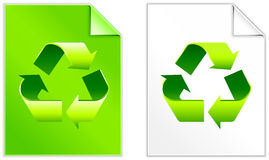 Recycle Symbol on Paper set Royalty Free Stock Images