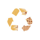 Recycle symbol rough paper Royalty Free Stock Images