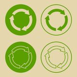 Recycle Symbol Set Isolated Royalty Free Stock Image
