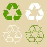 Recycle Symbol Set Isolated Stock Photography