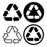 Recycle symbol set Royalty Free Stock Images