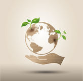 Recycle symbol or sign of conservation . Ecology concept . Vector symbol paper cut style stock illustration