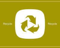Recycle symbol or sign of conservation icon Stock Photos