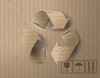 Recycle symbol or sign of conservation . Vector symbol paper cut style royalty free illustration