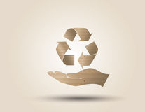 Recycle symbol or sign of conservation . Royalty Free Stock Photo