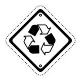 recycle symbol sign icon Royalty Free Stock Photo