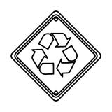 recycle symbol sign icon Royalty Free Stock Image