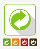 Recycle Symbol. Sign of Recycled Material. Update Icon vector illustration