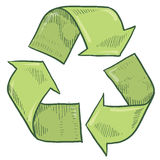 Recycle symbol sketch Stock Photo