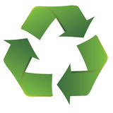 Recycle symbol with smooth fluid lines Stock Photography