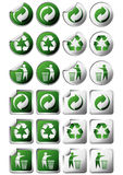 Recycle symbol stickers Royalty Free Stock Photos