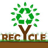 Recycle symbol tree green environment Stock Photography