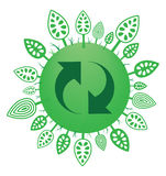 Recycle symbol and trees stock illustration