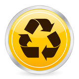 Recycle symbol yellow circle i Stock Image