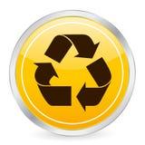 Recycle symbol yellow circle i Stock Image