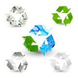 Recycle symbols Royalty Free Stock Images