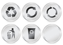 Recycle symbols circle icon Royalty Free Stock Photography