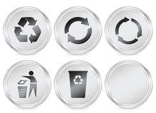 Recycle symbols circle icon Royalty Free Stock Photography