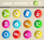 Recycle Symbols icon set. Recycle simply symbols for web and user interface Stock Photos