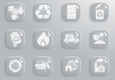Recycle Symbols icon set. Recycle simply symbols for web and user interface Stock Photography