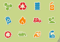 Recycle Symbols icon set. Recycle simply symbols for web and user interface Royalty Free Stock Photography