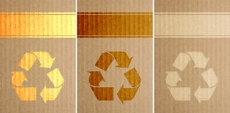 Recycle Symbols Stamped on Car Royalty Free Stock Photography