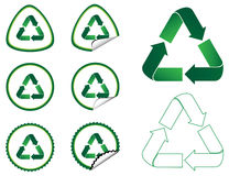 Recycle Tags Collection Stock Image