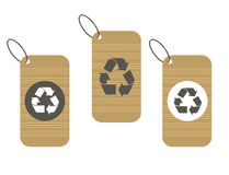 Recycle tags for environmental design Royalty Free Stock Images