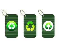 Recycle tags for environmental design Royalty Free Stock Photos