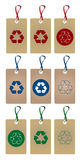 Recycle tags set Stock Photography