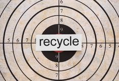 Recycle target Royalty Free Stock Photography