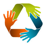 Recycle teamwork concept design Stock Photo