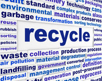 Recycle technological words concept Stock Images