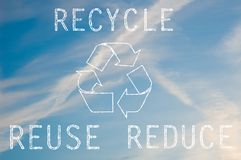 Recycle text Royalty Free Stock Images