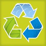 Recycle textured. Illustration of textured recycle sign: cycle of materia: water, plants, atmosphere Stock Image