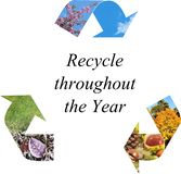 Recycle throughout the year Stock Images