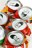 Recycle tins Royalty Free Stock Images