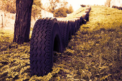 Recycle Tire Playground Royalty Free Stock Photo