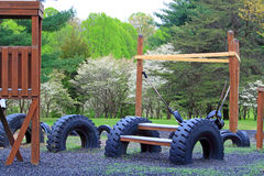 Recycle Tires Playground. Recycle Rubber, Playground made with Recycled Tires at Seneca Creek Park MD royalty free stock photo
