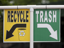Recycle and trash sign Stock Image