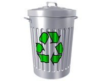 Recycle Trashcan Royalty Free Stock Photo