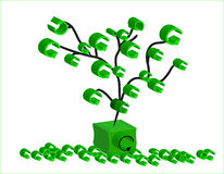 Recycle tree. An isolated recycle tree shedding leaves royalty free illustration